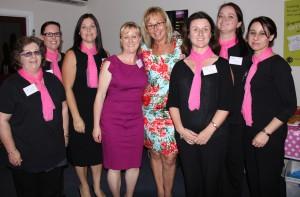 Tammy van Wisse with the Admin Angels team