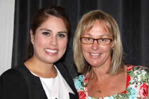 Susan Serey with Tammy van Wisse